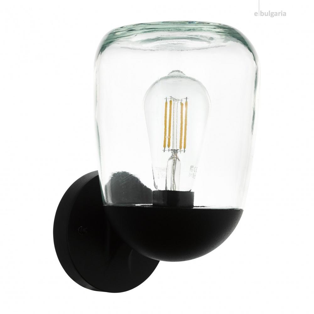 градински аплик donatori, black/clear, 1xE27, eglo, 98701