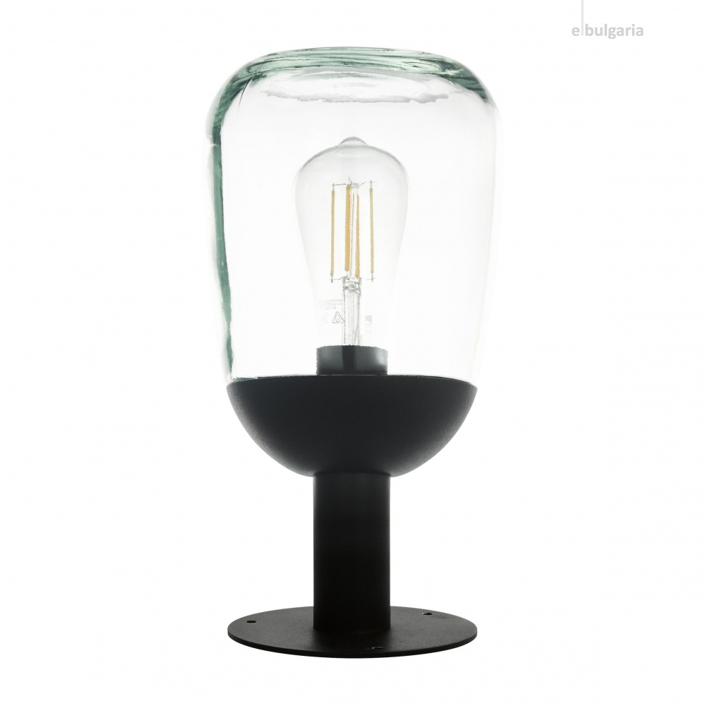 градинска настолна лампа donatori, black/clear, 1xE27, eglo, 98702