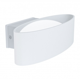 градински аплик chinoa, white/transparent, led 10w, warm white, 1100lm, eglo, 98709