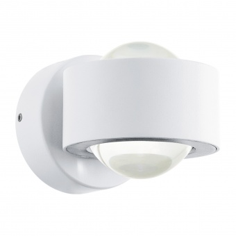 градински аплик treviolo, white/clear, led 2x3w, warm white, 900lm, eglo, 98747