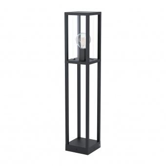 градински лампион cascinetta, black/clear, 1xE27, eglo, 98715