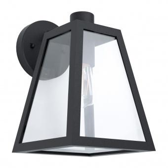 градински аплик mirandola, black/clear, 1xE27, eglo, 98719