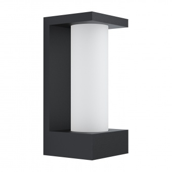 градински аплик cividino, black/satin white, led 6w, warm white, 500lm, eglo, 98744