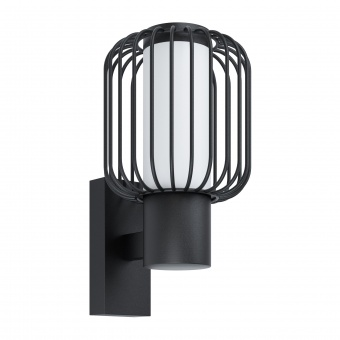 градински аплик ravello, black/white, 1xE27, eglo, 98721