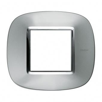 метална рамка, axolute aluminium, bticino, axolute, hb4802xc