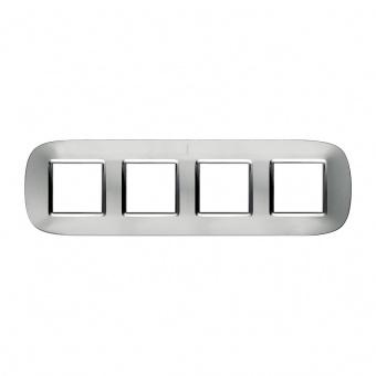 метална четворна рамка, axolute aluminium, bticino, axolute, hb4802/4xc