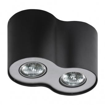 луна за външен монтаж neos 2, black/aluminium, 2xGU10, azzardo, az0609