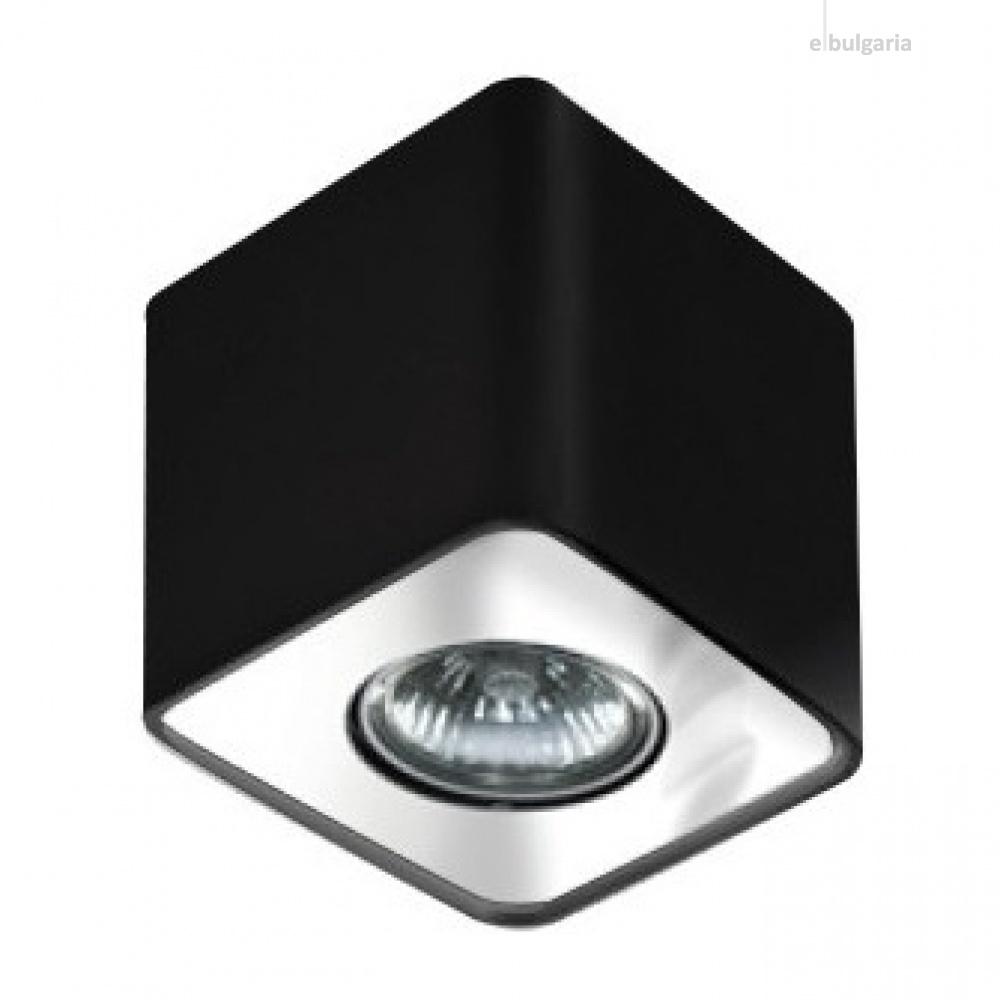 луна за външен монтаж nino 1, black/chrome, 1xGU10, azzardo, az0736