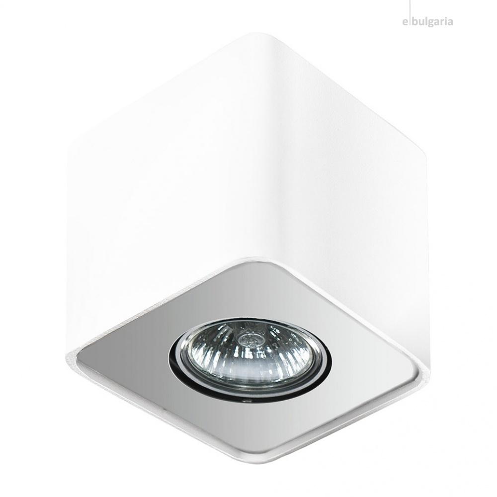 луна за външен монтаж nino 1, white/aluminium, 1xGU10, azzardo, az0598