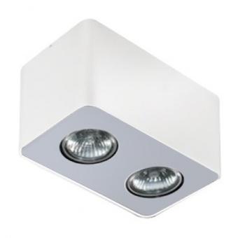 луна за външен монтаж nino 2, white/aluminium, 2xGU10, azzardo, az1386
