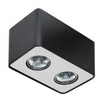 луна за външен монтаж nino 2, black/aluminium, 2xGU10, azzardo, az1385