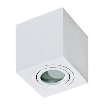 луна за външен монтаж brant square, white, 1xGU10, azzardo, az2822