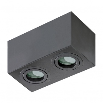 луна за външен монтаж brant square, black, 2xGU10, azzardo, az2879