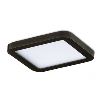луна slim square 9, black, led 6w, 3000k, 500lm, azzardo, az2833