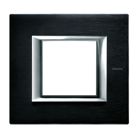 pvc рамка, brushed anthracite, bticino, axolute, ha4802xs