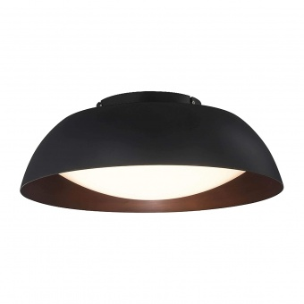 плафон lenox top 60, black/copper, led 40w, 3000k, 3280lm, azzardo, az3146