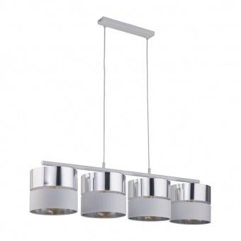 полилей hilton silver, white+silver, 4xE27, tk lighting, 4177