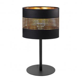 настолна лампа tago black, black+gold, 1xE27, tk lighting, 5054