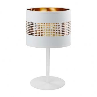 настолна лампа tago white, white+gold, 1xE27, tk lighting, 5056