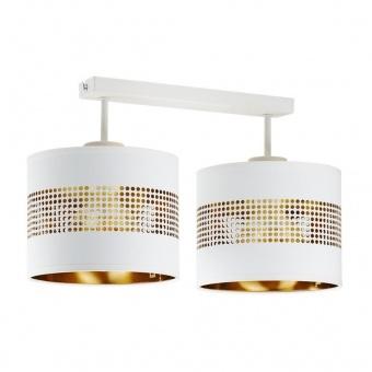 полилей tago white, white+gold, 2xE27, tk lighting, 3223