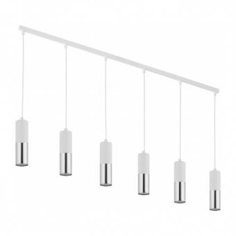 полилей elit white, white+silver, 6xGU10, tk lighting, 4358