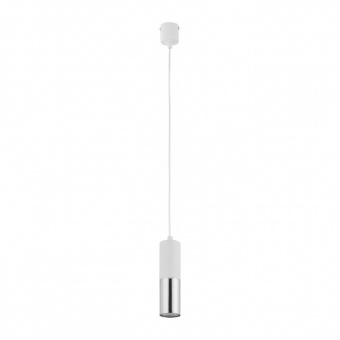 пендел elit white, white+silver, 1xGU10, tk lighting, 4356