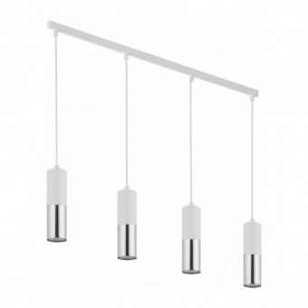полилей elit white, white+silver, 4xGU10, tk lighting, 4357
