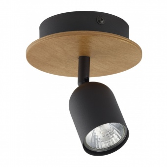 спот top wood, black, 1xGU10, tk lighting, 3290