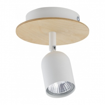 спот top wood, white, 1xGU10, tk lighting, 3294