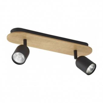 спот top wood, black, 2xGU10, tk lighting, 3291