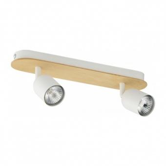 спот top wood, white, 2xGU10, tk lighting, 3295