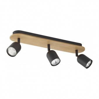 спот top wood, black, 3xGU10, tk lighting, 3292