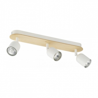 спот top wood, white, 3xGU10, tk lighting, 3296