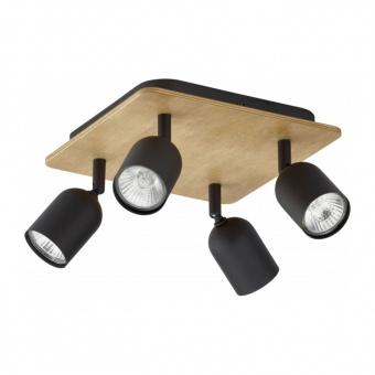 спот top wood, black, 4xGU10, tk lighting, 3293