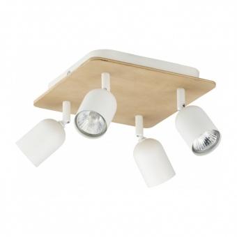 спот top wood, white, 4xGU10, tk lighting, 3297