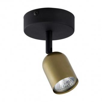 спот top gold, black/gold, 1xGU10, tk lighting, 3301