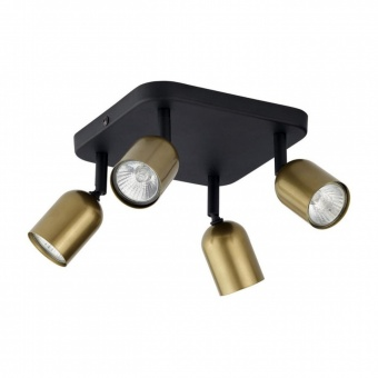 спот top gold, black/gold, 4xGU10, tk lighting, 3307