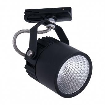 спот за монофазна шина tracer, black, led 10w, 4000k, 900lm, tk lighting, 4145