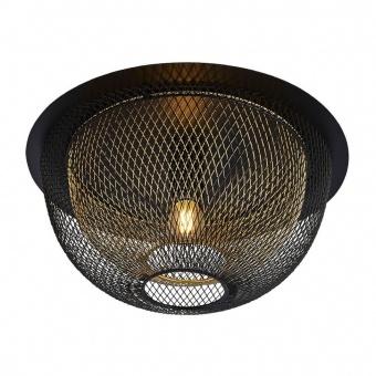 плафон honeycomb, matt black/gold, 1xE27, searchlight, 6840bgo