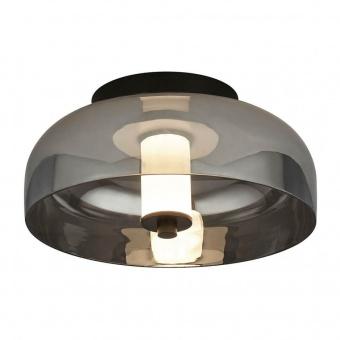 плафон frisbee, matt black, led 10w, 2700k, 363lm, searchlight, 59804-1sm
