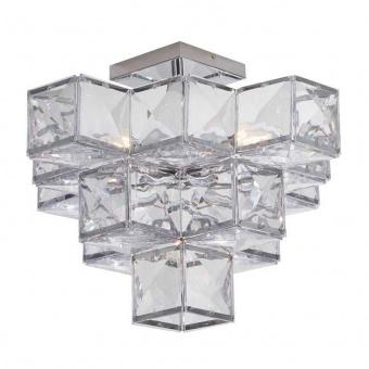плафон glacier, chrome/clear, 5xE14, searchlight, 5995-5cc