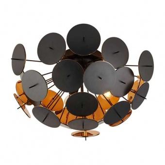 плафон discus, black/gold, 3xE14, searchlight, 3073-3bg