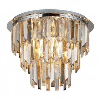 плафон clarissa, chrome/clear/smoked/amber, 5xE14, searchlight, 1225-5cc