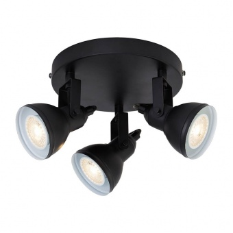 спот focus, matt black, 3xGU10, searchlight, 1543bk