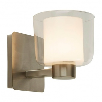 аплик bubbles, satin nickel/clear/white, 1xG9, searchlight, 6051sn