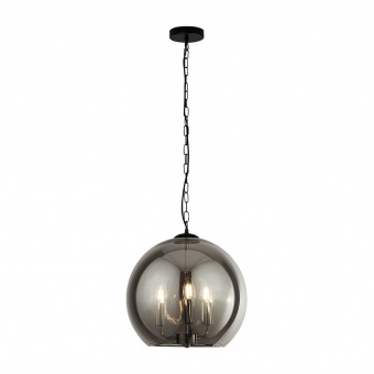 полилей sphere, matt black/chrome/smoked, 3xE14, searchlight, 1783-3sm