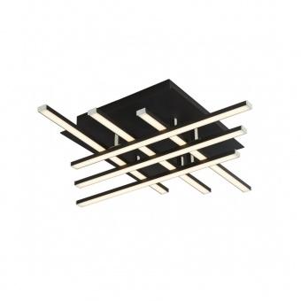 плафон matrix, matt black, led 24w, 3000k, 1625lm, searchlight, 696-6bk