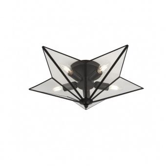 плафон star, black/clear, 5xE14, searchlight, 9085-5bk
