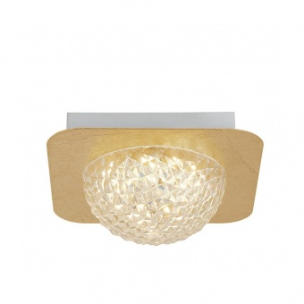 плафон celestia, gold leaf/clear, led 6.5w, 3000k, 585lm, searchlight, 32511-1go