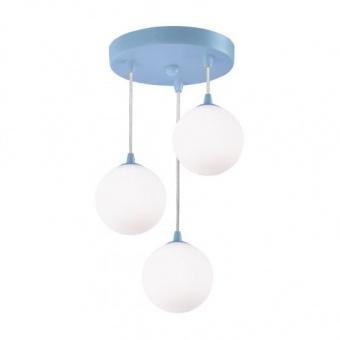 полилей kids, blue/opal, 3xG9, searchlight, 3423-3az